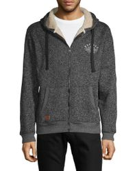 Buffalo David Bitton - Logo Hooded Sweater - Lyst