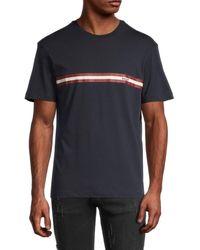 Bally Men's Logo Stripe T-shirt - Navy - Size L - Blue