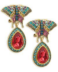Heidi Daus Women's Crystal Drop Earrings - Red