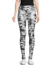 Electric Yoga Camouflage Stretch Leggings - Black