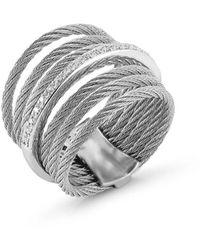 Alor Women's 18k White Gold, Stainless Steel & Diamond Ring - Size 7 - Metallic