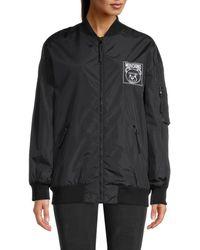 Moschino Women's Bear Nylon Jacket - Black - Size 40 (6)