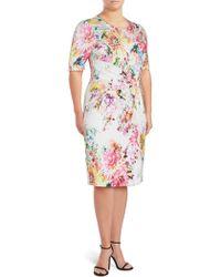 Basler - Floral-print Sheath Dress - Lyst