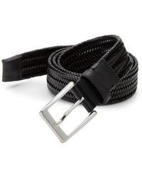 Saks Fifth Avenue Men's Basket Weave Leather Belt - Cognac - Size 42 - Brown