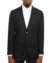 Michael Bastian Notched Lapel Jacket - Black