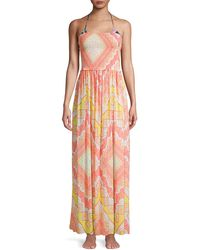 Ramy Brook Calista Print Maxi Dress - Pink