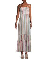 Saks Fifth Avenue Striped Tier Maxi Dress - Multicolor