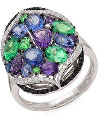 Saks Fifth Avenue Diamond Bangle In 14k Rose Gold - Multicolor