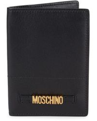 Moschino - Leather Passport Holder - Lyst