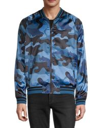 Standard Issue Printed Bomber Jacket - Blue