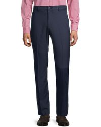 Saks Fifth Avenue Flat-front Golf Trousers - Blue