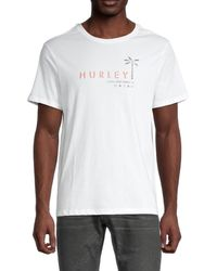 Hurley Men's Tropical Mindstate Jersey T-shirt - White - Size L
