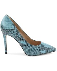 BCBGeneration Women's Point-toe Court Shoes - Oil Blue Snake - Size 6.5