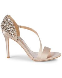 Badgley Mischka Pauline Embellished D'orsay Stiletto Sandals - Metallic