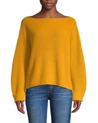 French Connection Millie Mozart Ribbed Sweater - White