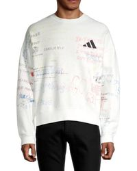 Yeezy Men's X Adidas Graphic Sweatshirt - Off White - Size Xs