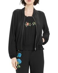 Natori - Embroidered Bomber Jacket - Lyst