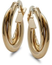 Saks Fifth Avenue 14k Yellow Gold Huggie Earrings - Metallic