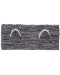 Karl Lagerfeld Faux Fur-trim Ear Headband - Grey