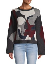 360cashmere Skull-front Cashmere Sweater - Gray