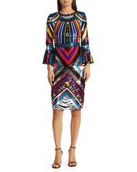 Alice + Olivia Women's Jae Open-back Sequin Dress - Size 0 - Multicolor