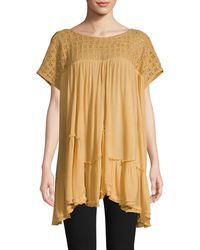 Free People Sunfest Crochet Tunic - Red