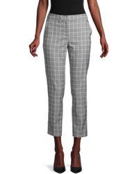 Tommy Hilfiger Windowpane Woven Pants - Gray