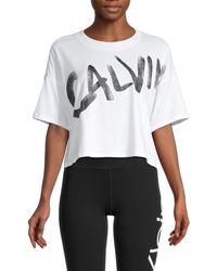 Calvin Klein Cotton-blend Logo T-shirt - White