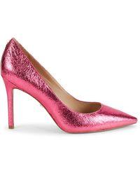Sam Edelman Hazel Metallic Leather Court Shoes - Pink
