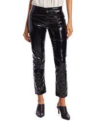 N°21 Patent Low-rise Skinny Jeans - Black