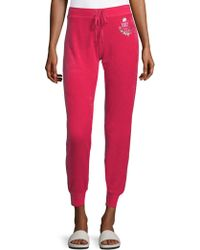 Juicy Couture - Velour Track Trousers - Lyst