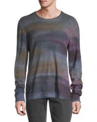John Varvatos Printed Wool Sweater - Gray