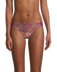 Skarlett Blue Entice Lace Thongs - Pink
