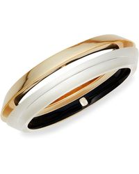 Alexis Bittar 2-piece 10k Goldplated & Lucite Angled Bangle Bracelet Set - Multicolour