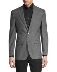 Calvin Klein Men's Slim-fit Textured Blazer Suit - Charcoal - Size 38 S - Grey