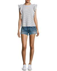 Mcguire - Pom-pom Distressed Cut-off Denim Shorts - Lyst
