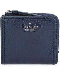 Kate Spade Women's Patterson Drive Small L-zip Bifold Wallet - Parisian Blue