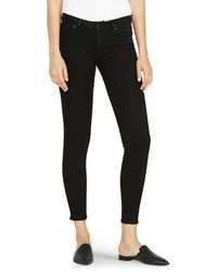 Hudson Jeans Krista Low-rise Ankle Super Skinny Jeans - Black