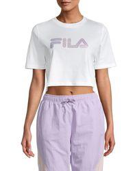 Fila Women's Nasiba Cropped T-shirt - White - Size S