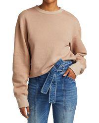 A.L.C. Sawtos Studded Cotton Sweatshirt - Blue
