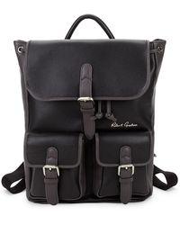 Robert Graham Tasso Leather Backpack - Black