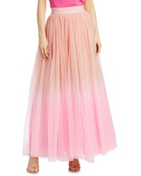 Alice + Olivia Women's Catrina Tulle Maxi Skirt - Ballet Electric Pink - Size 8