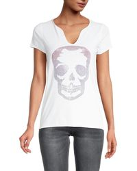 Zadig & Voltaire Tunisien Embellished Skull T-shirt - Grey
