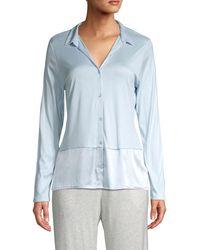 Hanro - Spread Collar Long-sleeve Shirt - Lyst