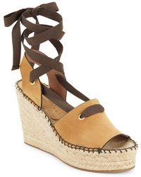 Bettye Muller - Christina Lace-up Espadrille Platform Sandals - Lyst