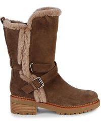 Sam Edelman Jailyn Faux Fur-lined Suede Boots - Brown