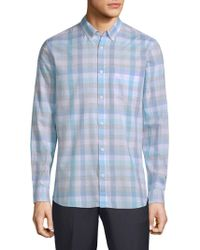 Calvin Klein - Washed-plaid Pocket Shirt - Lyst