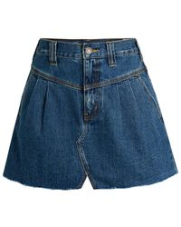 Free People Women's Sidecar Denim Mini Skirt - Saratoga Blue - Size 26 (2-4)
