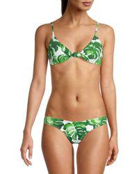 Caroline Constas Marta Bikini Top - Green