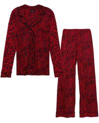 Cosabella Amore 2-piece Printed Pyjama Set - Red